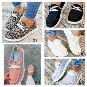 Moda loafer'lar Sneakers Leopard Kadın Casual Flats Süet Ayakkabı Kayma çapraz kayış 5 stilleri ile tembel Ayakkabı Baskı GGA3725-2