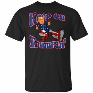 Donald Trump Tops Tee T Shirt Keep On Trumpin Short Sleeve S-5XL Outdoor Wear Tops T-Shirt
