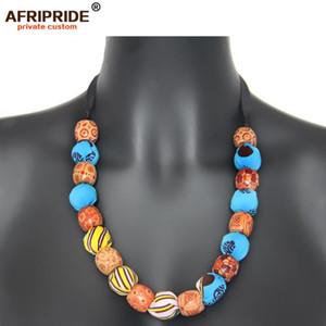 2020 African Заявление ожерелье венчания Resin ювелирных изделий шариков моды африканские бусы колье ожерелье для женщин AFRIPRIDE A1928005