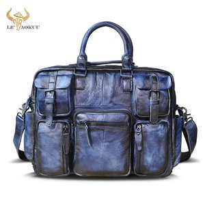 Top Quality leather Men Fashion Handbag Business Briefcase Commercia Document Laptop Case Design Male Attache Portfolio Bag 3061