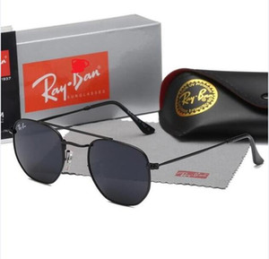 Alta Qualidade New Ray Homens Mulheres Sunglasses Vintage Pilot Marca óculos de sol Banda UV400 Bans Ben óculos de sol com caixa e caso 3648