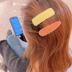 02042 Red Style Corea netta Ins Hair Clip Candy Girly Serie di cristallo elegante moda sofisticata Stile clip clip di BB Side