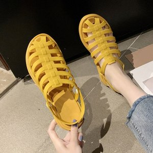 Women Flat Sandals Summer Fashion Casual Womens Slippers PU Button Non Slip Woman Beach Shoes Ladies Two Wear Comfort Female kJVt#