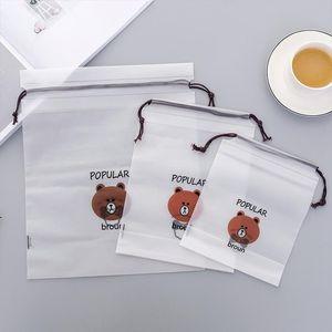 Travel Makeup Case Brown Bear Transparent Cosmetic Bag Wash Beaut Kit Women Zipper Make Up Bath Organizer Storage Pouch Toiletry