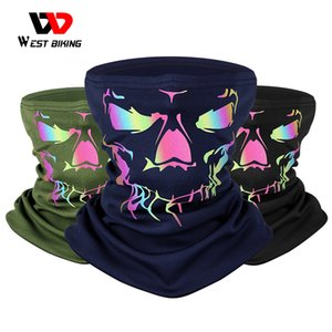 WEST BIKING Winter Sport Scarf Reflective 3D Print Warm Windproof Face Cover Men Women Bicycle Bandana Outdoor Cycling Headwear