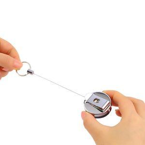 2020 New Creative Retractable Ruler Tape Children Height Measure Key Chain Pocket Pull Metric 60cm Keyring Keychain Color Random