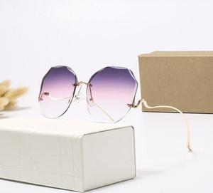 Alta calidad piloto lente polarizada Gafas de sol de moda para el diseño mujeres de los hombres de la vendimia Gafas de sol con caja y caja 2209H