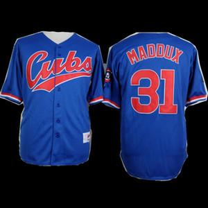 2021 all'ingrosso nuove donne degli uomini della gioventù Majestic personalizzato Cubs Jersey # 34 Kerry Wood 34 maglie Jon Lester casa Blu Grigio Bianco Baseball