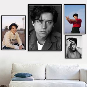 Poster Prints Hot New Cole Sprouse Tv Series Movie Star Actor Art Canvas Oil Painting Wall Pictures For Living Room Home Decor