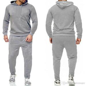 Calças de lápis Mens Fleece Tracksuits Fashion Sports 2pcs Set Mens Jogging Suits Designer Pullover Hoodies