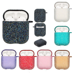 Shining Sequins Hard Case Cover for AirPods 1 2 Bling Glitter PC Shell Case for Wireless Earphone