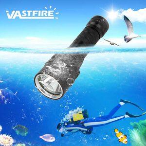 VastFire T6 portátil 1000 lumen impermeable 100m Submarino buceo con escafandra antorcha XM-L LED