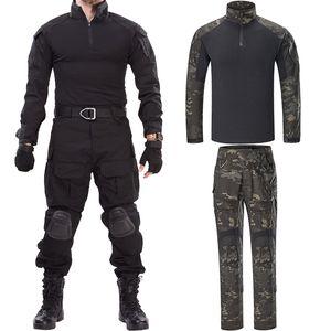 Pads Combat Üniforma Av Kamuflaj Pantolon G3 Combat Gömlek Taktik G3 Suit Gömlek Pantolon Diz