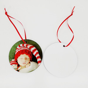 70MM Round Sublimation Ornament for Christmas Blank Wood Ornaments Double Sided Can be Printed Home Christmas Decorations Party Supplies