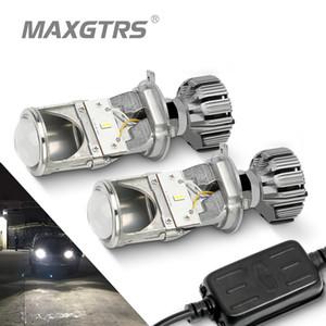2X 80W Pair Lamp H4 LED Mini Projector Lens Automobles LED Bulb Conversion Kit Hi Lo Beam Headlight 12V 24V 5500K White