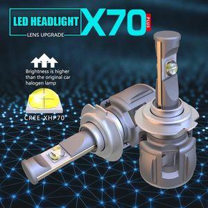 X70 H4 H7 H1 9005 9006 سيارة LED لمبة المصباح H11 H8 D1S D2S D4S حصان بقيادة مصباح رقاقة 120W 15600LM المصابيح الأمامية مصابيح الضباب 6000K