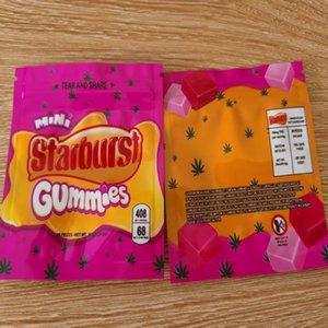Candy боеголовки Пакета ZippeR 408mg Starburst 400мг Edibles Hot Bag 500мг Новая Zipper Bag Сумка Errlli Упаковка Dhl Airhead Сумка sqcpx