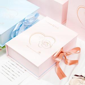 Natale confezione regalo di alta Wedding Party Favors scatola regalo imballaggio nuovo anno 2021 regali fiore della Rosa confezioni personalizzate
