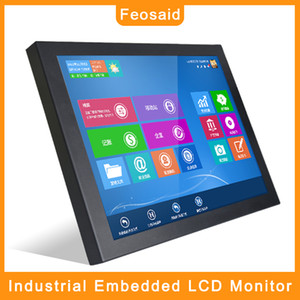"Feosaid 15"" 17"" 12"" 10 inch Embedded industrial Computer monitor Numerically controlled displays Tablet LCD Monitor VGA for PC"