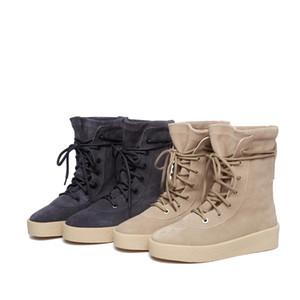 Sonbahar Kış 2020 Yeni Avrupa İstasyon Tide Martin Boots Kanye West Womens Yarım Martin Boots Desert Dağcılık nubuk Düz Çizme