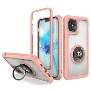Top Clear Acrílico Borracha Borracha Suporte Suporte para iPhone 12 Pro Max 11 Series Galaxy Nota 20 S21 S30 PLUS A21 A11 A01 Moto E7 G Rápido