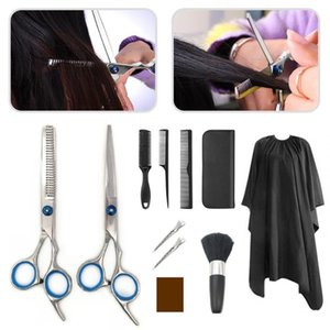 11pcs Set Professional Thinning Scissors Hair Brush Comb Salon Barber Hair Combs Hairbrush Hairdressing Combs Styling Tools