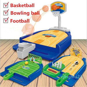 Wholesale-The leisure Ejection basketball court football bowling mini desktop multiplayer game Parent-child game interactive table toy
