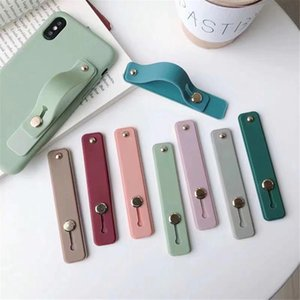 Atacado Silicone Telefone Phone Hand Band Titular Universal dedo Anel de Dedo Push Pull Grip Stand Candy Color Bracket Strap Push Stand
