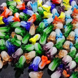 100pcs lot About 10x20mm Mix Color Cabbage Shape Lampwork Beads For Jewelry Making DIY Loose Handmade Lampwork Glass Beads