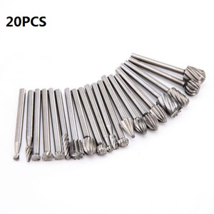 20pcs Set 3mm Wood Drill Bit Nozzles for Dremel Attachments HSS Stainless Steel Wood Carving Tools Set Woodworking