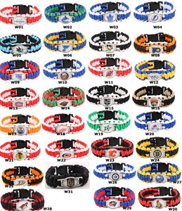 Hip Hop Paracord Survival Bracelets Umbrella Bracelet Hockey world baseball National Team Champions Umbrella Bracelet Men Sport Gift