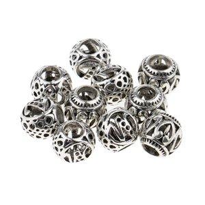 10pcs Mixed Designs Dread Locks Braiding Beads Silver Metal Cuffs Hair Accessories Jewelry Decoration