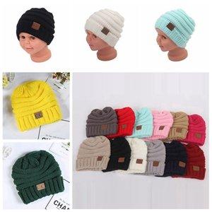 Bebê Chapéus CC na moda Beanie Crochet Moda Gorros Outdoor Hat inverno recém-nascido Beanie Crianças Wool Caps malha Aqueça Gorros 14 cores 10pcs