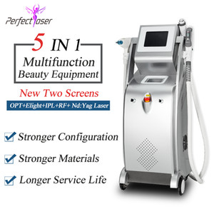 2020 multifonction épilation au laser ipl e machine à détatouage laser Yag RF lifting du visage elight opt ​​SHR ipl