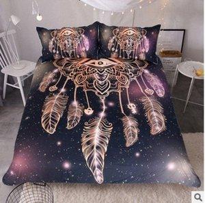 Del lecho de la cubierta del Duvet creativo original floral de Boho Lotus Mandala cama doble completa reina rey Sasu #