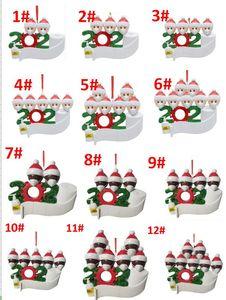 12 أنماط أفضل بائع عيد الميلاد زخرفة DIY تحيات عيد الميلاد 2020 عيد ميلاد الحزب ينأى جائحة الاجتماعية شجرة عيد الميلاد قلادة
