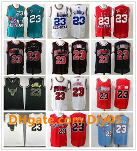 HOMBRES ALL-STAR REVERSTURAJordónChicagoBulls Jersey Retro negro rojo blancoNBA 23 Michael JD Malla de baloncesto Vintage Jerseys