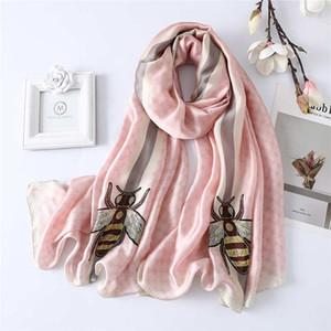 2020 шарф для женщин только последней роскошного шарф бренд известного дизайнера письма шаблона повелительницы Подарочного шарфа шелк высокого качества
