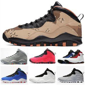 2020 New 10s Men Kids Basketball Shoes Jumpman 10 Tinker Racer Blue Cement Westbrook I'm Back Black White Trainer Sport Sneake