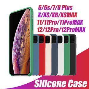 LOGO سيليكون القضية للحصول على 12 برو ماكس 11 إكسس XR تغطية حالة السائل الرسمية حريري لينة اللمس للحصول على نوع مع صندوق البيع بالتجزئة