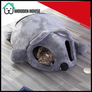 İki Oynama topları ile Pet gizle Play Mattress Kapalı Kedi Köpek House Warming Fare Şekil Yatak Kedi Öz