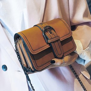 Vintage Fashion Flip Small Square bag 2020 New High Quality PU Leather Womens Designer Handbag Shoulder Messenger bag
