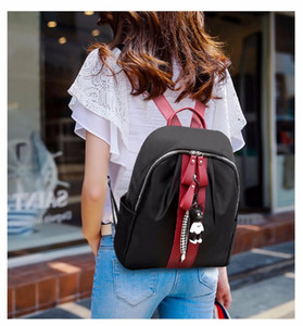 2020 Fashion New Women's Backpack Style Novelty Elegant Bear Pendant Women's Bag Fashion Casual Stitching Women's Backpack