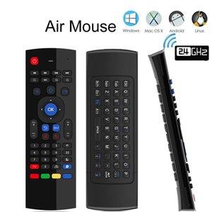 لوحة المفاتيح MX3 ماوس الهواء الخلفي MX3 لاسلكية 2.4G IR التعلم يطير ماوس الهواء الخلفية للحصول على الروبوت التلفزيون مربع التلفزيون الذكية