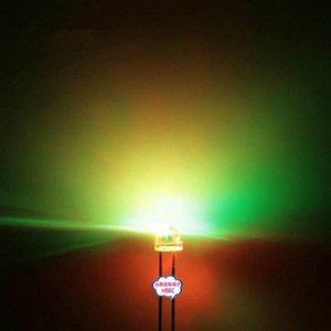 Оптово-Бесплатная доставка 1000шт 5мм (4.8mm) Соломенная шляпка LED RGB свет цвет / Быстрая автоматическая вспышка / 5MM Цвет RGB LED светодиодные XOrg #