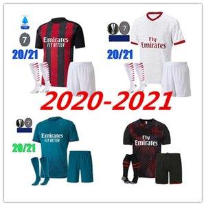 edad Niños AC Milan Ibrahimovic 2020 2021 camisetas de fútbol Set 19 20 21 piątek Paquetá THEO REBIC camisetas de los hombres de los kits de uniformes