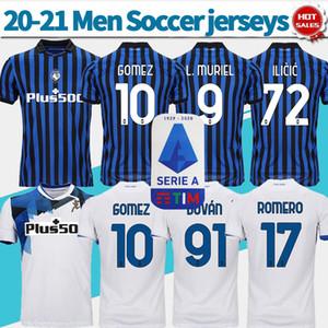 2021 Atalanta Bergamasca Calcio Soccer Jersey # 10 GOMEZ # Fardas personalizado Futebol 72 Iličić 20/21 Homens futebol camisa casa azul distância brancas