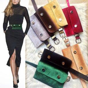 Women's fashion women's waist belt PU leather belt simple small mobile phone bag young waist accessories