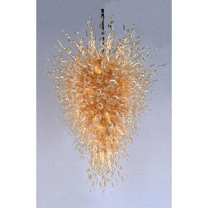 Cgjxs الإيطالية بهو كبير الذهبي الثريا عالية الجودة اليد الجميلة في مهب فن الزجاج الكريستال ضوء الثابت للفندق Lobbby