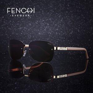 Fenchi novo aço inoxidável óculos polarizados atmosféricas óculos casuais